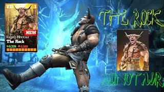 getlinkyoutube.com-Update 1.7 The Rock Minotaur Review All special Attacks:WWE Immortals Ios/Android