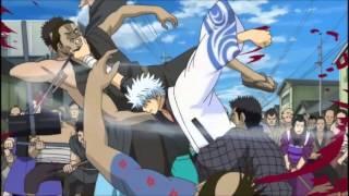getlinkyoutube.com-Gintama AMV - Arco ''Kabuki-cho Four Devas'' - Re-education (Rise Against)