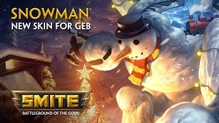 Smite - New Skin for Geb - Snowman