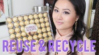getlinkyoutube.com-DIY Jewelry & Makeup Storage with Ferrero Rocher Containers