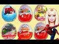 Kinder Surprise Eggs Disney Toys Peppa Pig Play Doh Spiderman Cars 2 egg