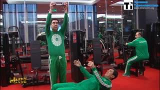 Президент Бердымухамедов провел тренировку в тренажерном зале