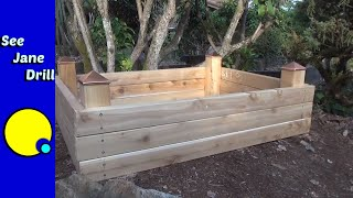 getlinkyoutube.com-Build a Raised Garden Bed in Less than an Hour on a Budget