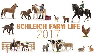 getlinkyoutube.com-Schleich horses, accessories and other animals 2017! [FARMLIFE] With numbers and names