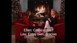 getlinkyoutube.com-Lea Michele en Ellen (The Ellen Show) Subtitulado 11.12.13