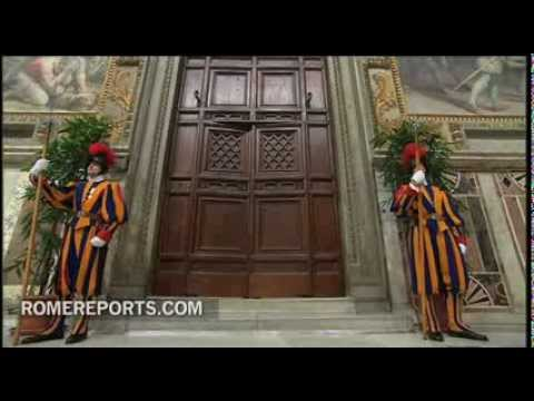 Conclave begins behind closed doors  as the famous 'Extra Omnes' phrase is announced