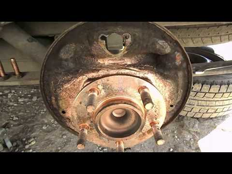 Установка самодельных задних тормозов на Dodge Caravan