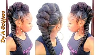 getlinkyoutube.com-Tutorial : Mohawk / Faux hawk style with a jumbo braid