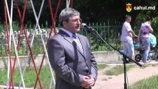 Avram Micinschi, inaugurarea bustului lui Grigore Vieru