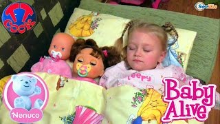 getlinkyoutube.com-✔ Nenuco and Alive. Ярослава укладывает своих кукол спать / Dolls are going to bed with Yaroslava ✔