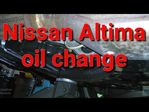 2013-15 Nissan Altima oil change 2.5