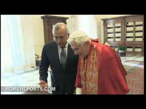 Benedict XVI welcomes Lebanese president