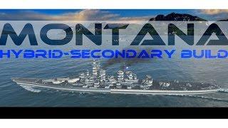 Montana hybrid-secondary build 261k DMG Kraken - World of Warships