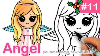 getlinkyoutube.com-How to Draw an Angel Cute Anime step by step Christmas Special