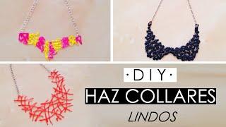 getlinkyoutube.com-DIY - 3 collares para hacer en casa ♡ ɴᴀɴᴄʏ