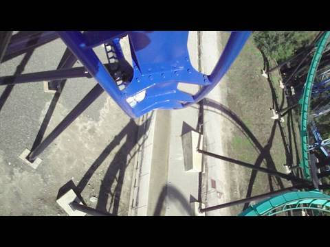 Batman Blue Track (HD POV) Six Flags Magic Mountain