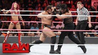 getlinkyoutube.com-Roman Reigns & Sasha Banks vs. Rusev & Charlotte - Mixed Tag Team Match: Raw, Oct. 10, 2016