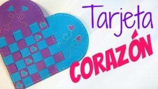 getlinkyoutube.com-Tarjeta de corazón trenzado (San Valentín). Heart card.