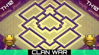 "Clash of Clans ♦ ""TH10 BEST WAR/TROPHY BASE"" ♦ w/ New Update"