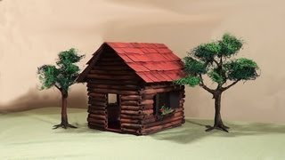 getlinkyoutube.com-Miniatura (diorama) - Casa de madeira - Miniature Wooden House - Part 1