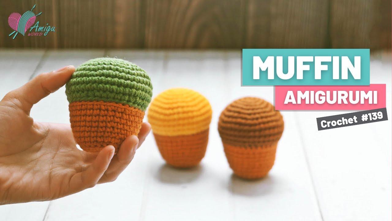 FREE pattern – How to crochet amigurumi MUFFIN