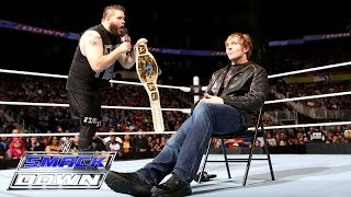 getlinkyoutube.com-A war-torn Dean Ambrose blasts Kevin Owens with a chair: SmackDown, March 3, 2016