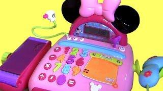 getlinkyoutube.com-Minnie Mouse Electronic Cash Register BowTique - Caja Registradora Boutique de Moños Minnie