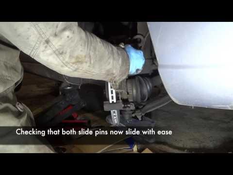Citroen Xsara front brake service