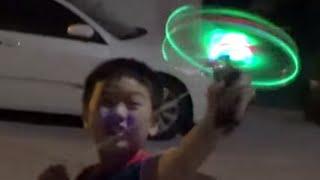 getlinkyoutube.com-슈팅플라이, LED 불빛이 들어오는 레고 닌자고 에어짓주 원조 프로펠라 중국 장난감 리뷰