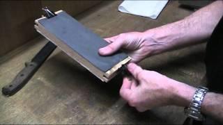 getlinkyoutube.com-DIY Sandpaper Sharpening Block for Knife Sharpening