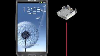 طريقة تغير قاعدة شحن لاجهزة الجلاكسي| how to replace cellphone charging port