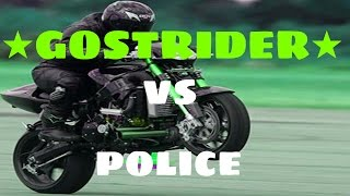 getlinkyoutube.com-★ MOTO VS POLICE ★ Police PURSUIT Ghostrider on the highway - COMPILATION ✔