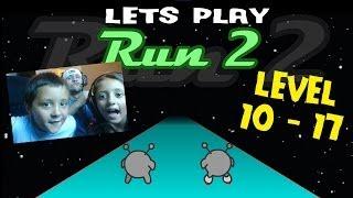 getlinkyoutube.com-Lets Play RUN 2: SKATE Level 10 - 17 w/ The Skylander Girl, Boy and Dad (Cool Math Games Face Cam)