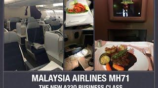 getlinkyoutube.com-Malaysia Airlines MH71 New A330 Business Class Flight Review