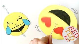 Easy Emoji DIY - Paper Spinner Craft