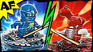 getlinkyoutube.com-NRG JAY vs FANGDAM Lego Ninjago Spinjitzu Battle & Stop Motion Set Review 9570 9571
