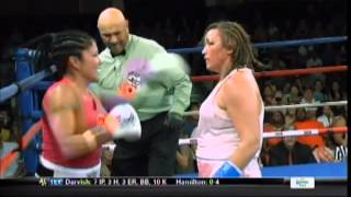getlinkyoutube.com-Woman boxer goes crazy, eats punches with hands down