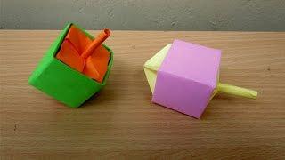 getlinkyoutube.com-How to Make a Paper Dreidel - Easy Tutorials