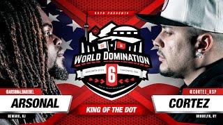 KOTD - Rap Battle - Arsonal vs Cortez   #WD6ix