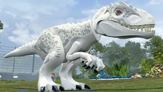 getlinkyoutube.com-LEGO Jurassic World - Indominus Rex Gameplay (BIG Dinosaurs)