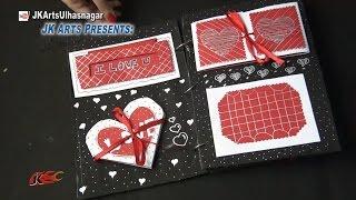 getlinkyoutube.com-scrapbook Tutorial | 20 Greeting cards Scrapbook | Valentine's Day Gift Idea | JK Arts 879