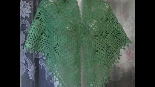 getlinkyoutube.com-Как связать шаль с паучками крючком?How to crochet shawl