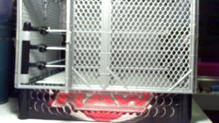 getlinkyoutube.com-Walmart Exclusive  WWE Wrestling Steel Cage Match Ring with John Cena & The Miz