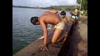 getlinkyoutube.com-Swimming in Rankala Lake at Kolhapur, Maharashtra, India