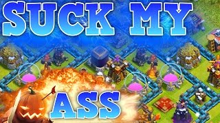 "getlinkyoutube.com-CLASH OF CLANS - HOLY BALLSACK! ""FUNNY MOMENTS + TROOPS VS MAX TOWN HALL 10"" (NEW SERIES) EP1"