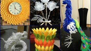 getlinkyoutube.com-Plastic Spoon Craft Ideas - Recycled Home Decor
