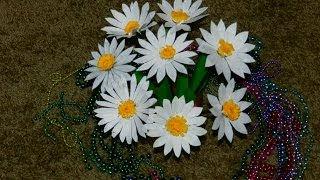 getlinkyoutube.com-Recycled DIY: How to make DAISY flowers with waste plastic Carton?