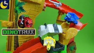 NEW Dinotrux Toys Rock Slide Revenge Playset Ty Rux Revvit Ton Ton D-Structs Vehicle Dinosaur Toys