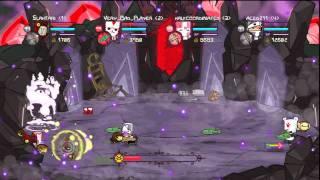 getlinkyoutube.com-Castle Crashers Insane Mode 4 Players Necromancer/Wizard