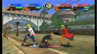 getlinkyoutube.com-Naruto Shippuden: Gekitou Ninja Taisen Special - Minato/Sage Mode Naruto vs Sasuke/Itachi